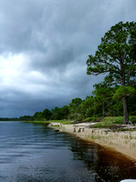 Nasty storm rolling in over Ochlockonee Bay, Florida